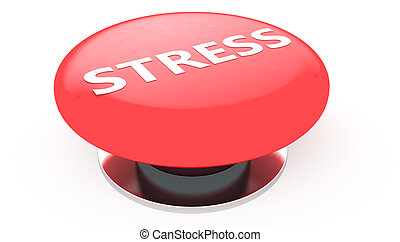 Stress button - 3D illustration of a simple objects for use...