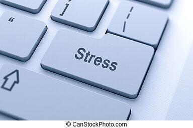 stress, computer, parola, bottone, tastiera