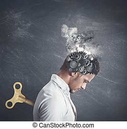 Stress concept - Concept of stress with gear in the head of...