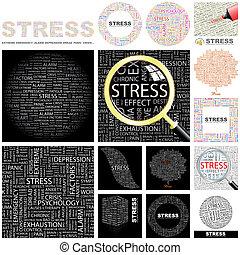 Stress. Concept illustration.