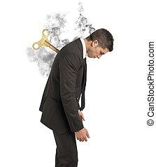 Stress concept of a businessman at work