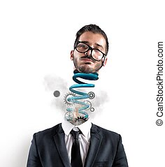 Stress - Concept of stress of a exhausted businessman at...