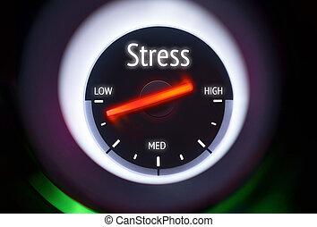 stress, concetto, basso, livelli
