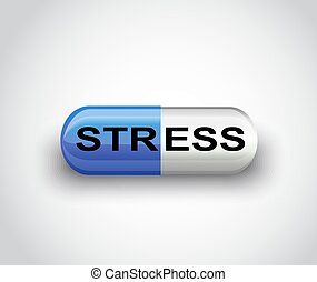 stress, depressie, geneeskunde, capsule, pil