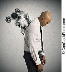 stress, di, uno, uomo affari