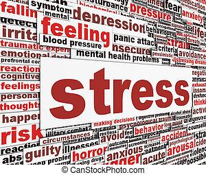 stress, disegno, messaggio