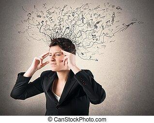 stress, e, confusione