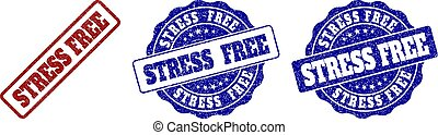 STRESS FREE Grunge Stamp Seals