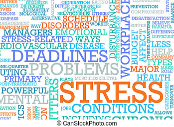 Stress From Job and Work Problem Concept