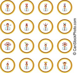 Stress icons circle
