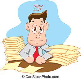 stress, kantoor, uit