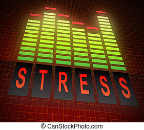 stress, livelli, concept.