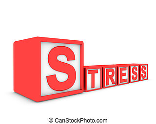 stress made of boxes