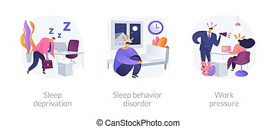 Stress management abstract concept vector illustrations.