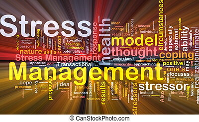 Stress management background concept glowing - Background...