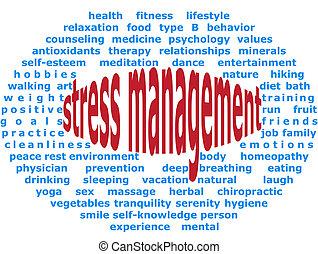 Stress management - Background elliptical illustration of...