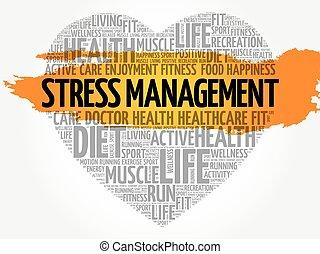 Stress Management heart word cloud