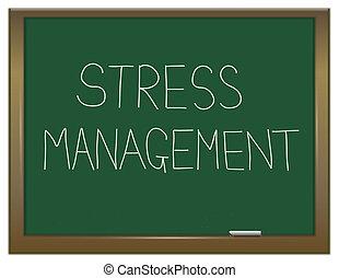Stress management. - Illustration depicting a green ...