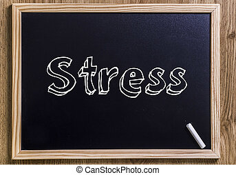Stress - New chalkboard with 3D outlined text