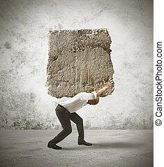 Stress of a businessman - Concept of stress of a businessman...
