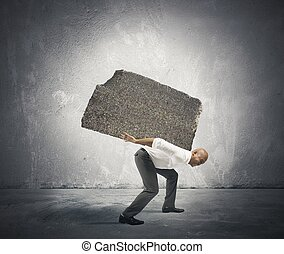 Stress of a businessman - Concept of Stress and hard career...