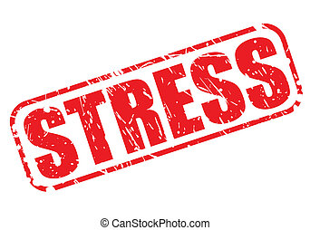 Stress red stamp text