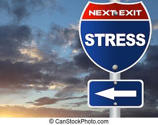 stress, segno strada