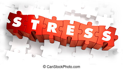 Stress - Text on Red Puzzles.