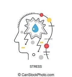 Stress vector illustration concept.