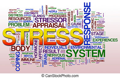 Stress wordcloud - Illustration of word cloud related to...