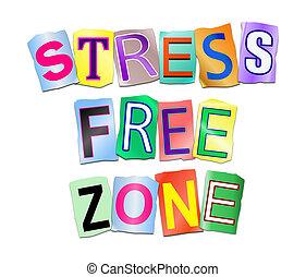 stress, zone., kosteloos