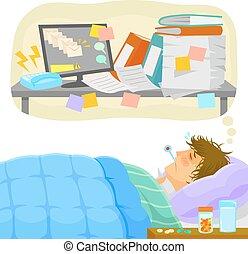 stressant, congé malade