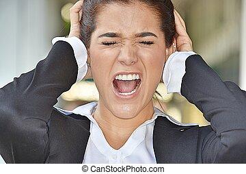 stressant, femme, divers, business