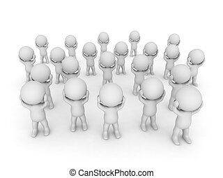 Stressed 3D Characters - Stressed 3D characters. Isolated on...