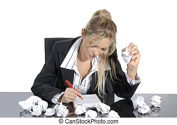 stressed business woman