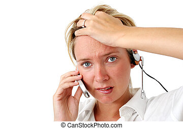Stressed Business Woman - Woman under stress at work