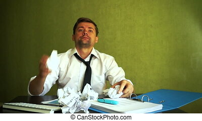 Stressed businessman don't know what to do. Frustration...