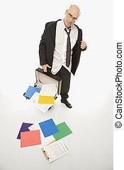 Stressed Businessman. - Caucasian middle-aged businessman...