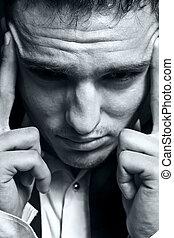 Stressed businessman