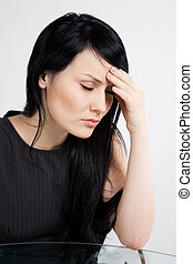 Stressed businesswoman - A shot of a stressed and ill...