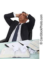 Stressed executive