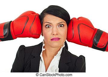 Stressed executive under pressure