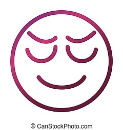 stressed funny smiley emoticon face expression gradient style icon