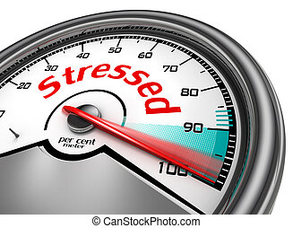 Stressed hundred per cent conceptual meter, isolated on...