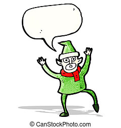 stressed out christmas elf cartoon