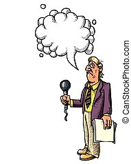 stressed reporter-100 Cartoon image - Cartoon image of...