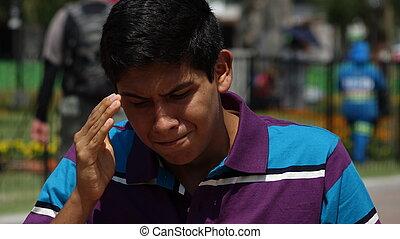 Stressed Teen Boy