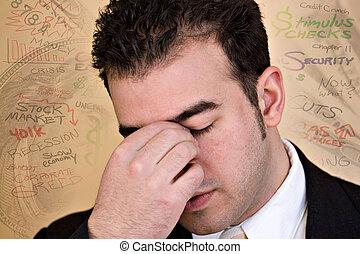 stressende, økonomisk, times
