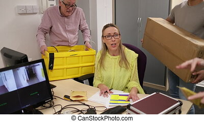 Stressful Day at the Office - Mature woman is going crazy at...