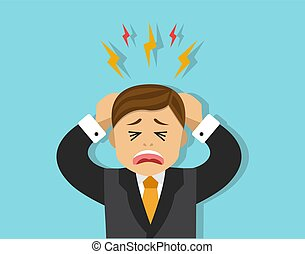 stressful situation for the employee - The office worker...